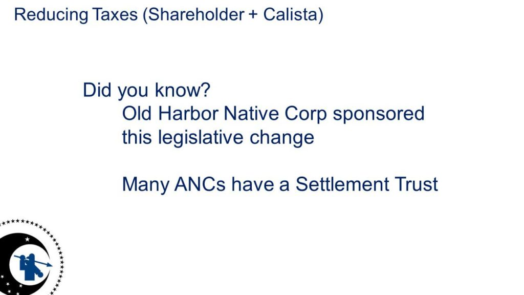 Many ANCs have a Settlement Trust
