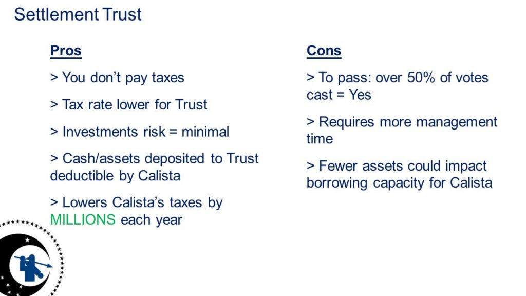 Settlement Trust Pros and Cons