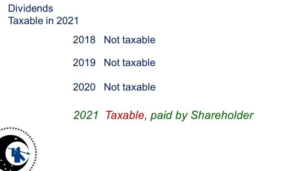 Dividends Taxable in 2021