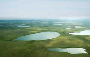 Calista Region, YK Delta aerial photo