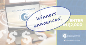 MyCalista Fall Campaign WINNERS Announced