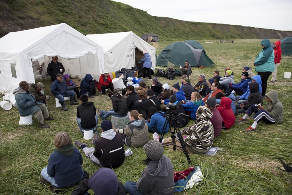 Calista Education culture camp near Umkumiut, the seasonal subsistence camp.