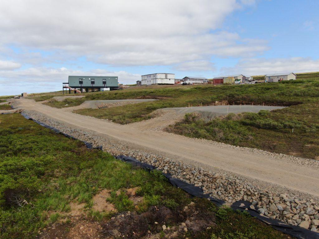 House pads at Mertarvik