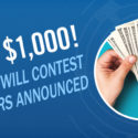 Win $1000! Stock Will Contest Winners Announced