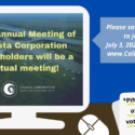 Save your PIN to join the July 3, 2020 meeting at CalistaVote.com