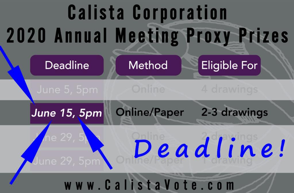June 15, 5pm, Next Voting Deadline