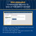 Direct Deposit through MyCalista